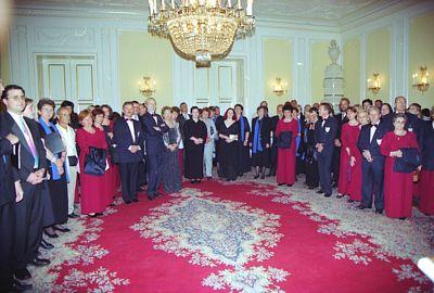 2001 GRAZ OSPITI NEL PALAZZO DEL PRESIDENTE DELLA REGIONE
